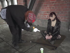 German babe leah obscure in bizzare bdsm