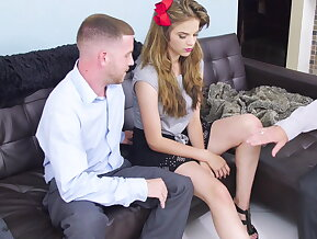 Slutty teen gets pimped and used